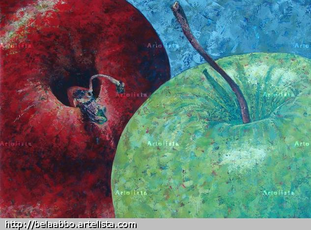 An Apple a Day IX Acrílico Bodegones Lienzo