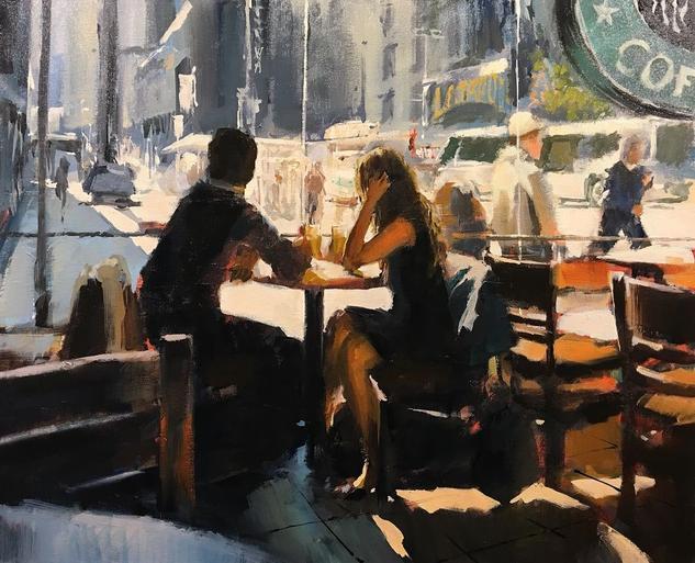Un dia en NY Canvas Oil Figure Painting