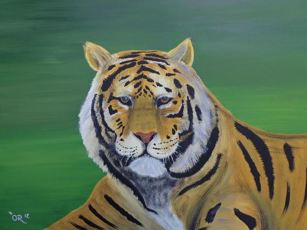 Tigre Tela Acrílico Animales