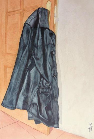 mi chaqueta de cuero Papel Acuarela Bodegones