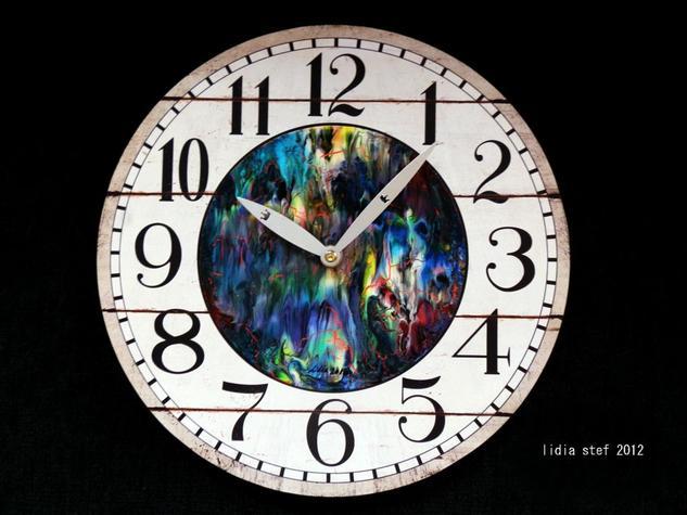 reloj-pintura acrilica Otros Acrílico Otros