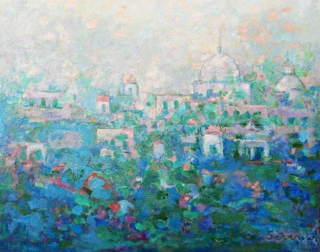 Mezquita Lienzo Óleo Paisaje