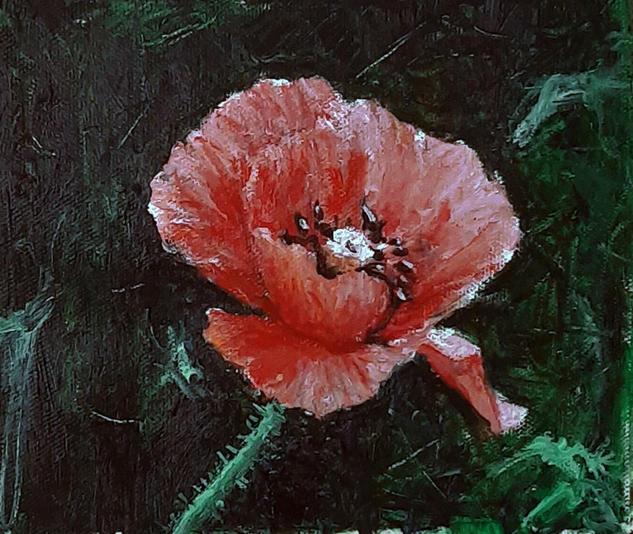 flor Floral Óleo Lienzo