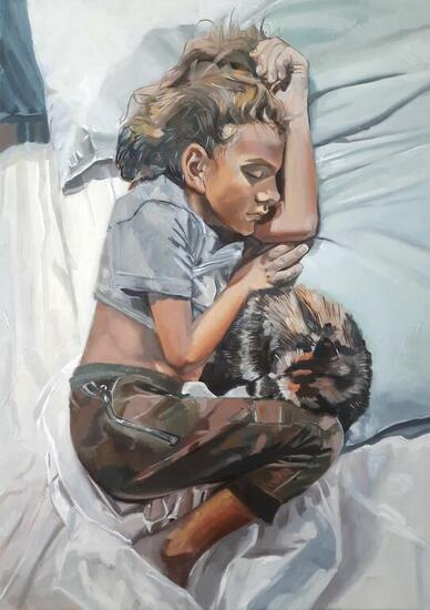 El sueño Portrait Oil Canvas