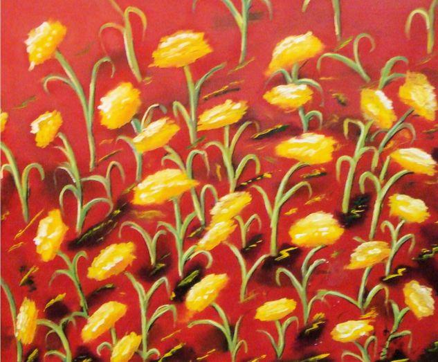Expresión Floral Lienzo Óleo Floral