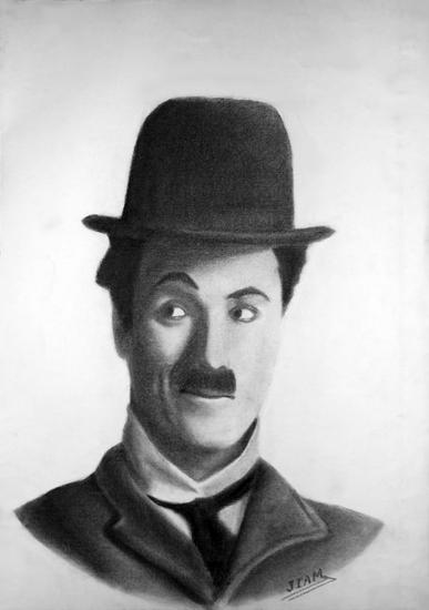 Chaplin Papel Otros Retrato