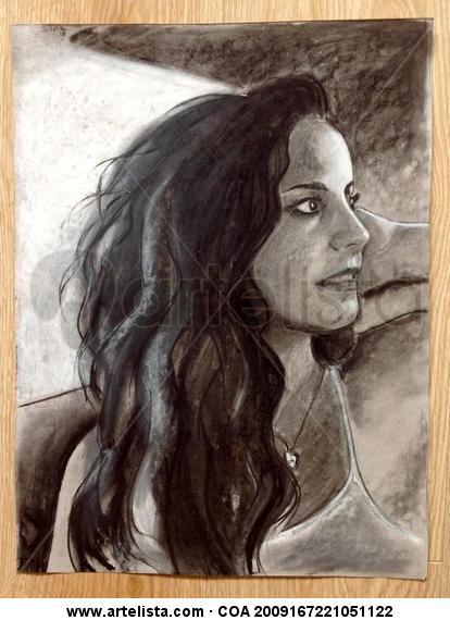 Retrato de Lucía Papel Lápiz (Negro) Retrato