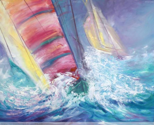 regatas competicion Canvas Oil Marine Painting