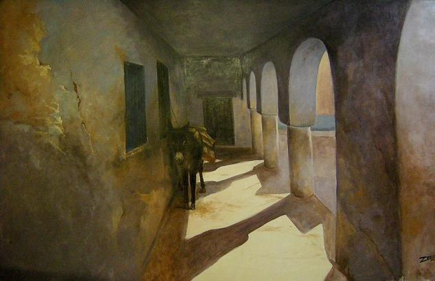 repos sous les arcades Lienzo Óleo Animales