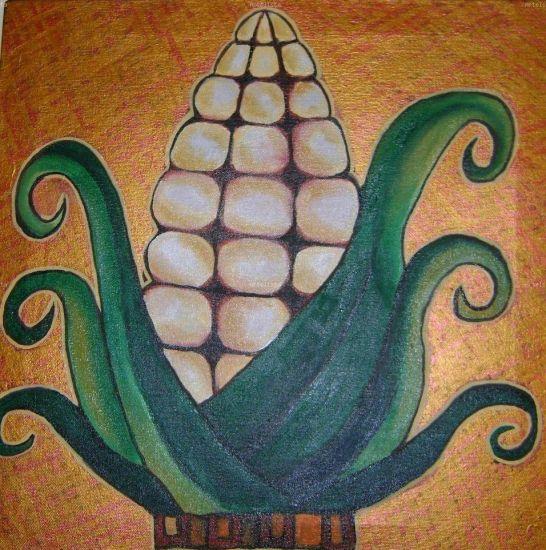 Nuestro sustento el maiz Óleo Lienzo Otros