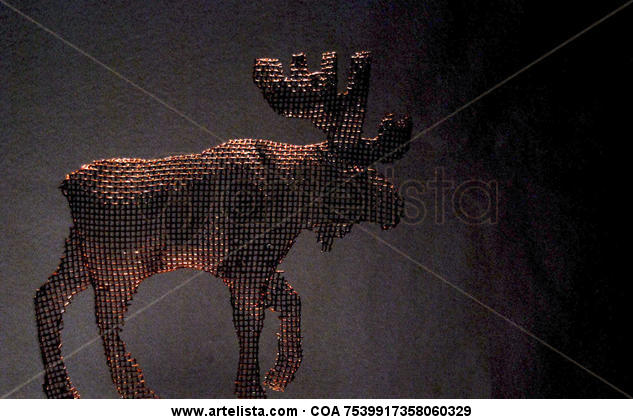 alce Metal Figurativa