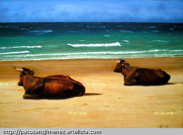 en la playa de bolonia