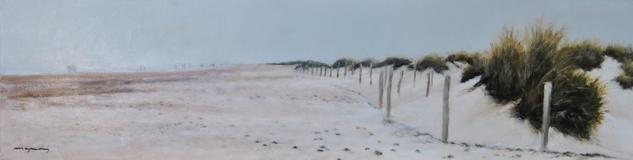 Paseando por la playa al amanecer Piel Óleo Paisaje