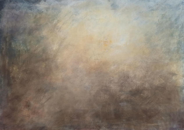 Mystery in the mist Paisaje Acrílico Lienzo