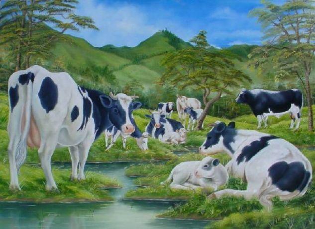 Vacas carlos enrique sanchez santamaria - Cuadros de vacas ...