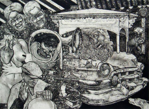 SERIE CARROZAS III Colografía