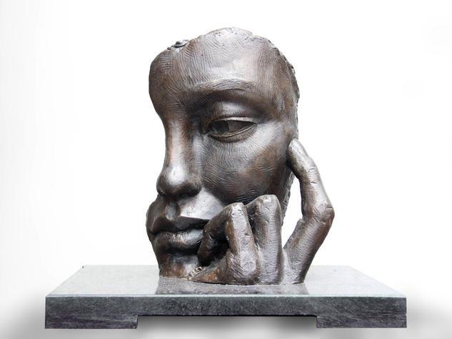 La espera Figurative Bronze