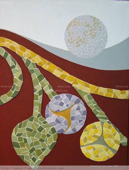 mosaico hoja