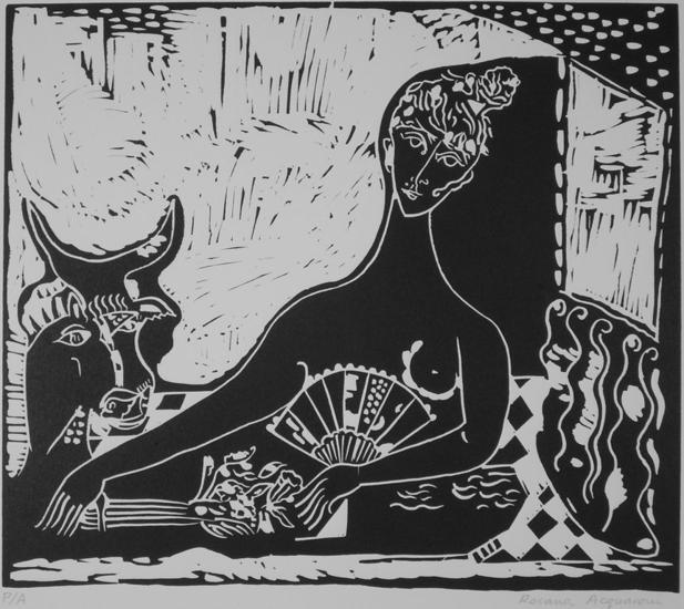 Homenaje a Picasso Linograbado