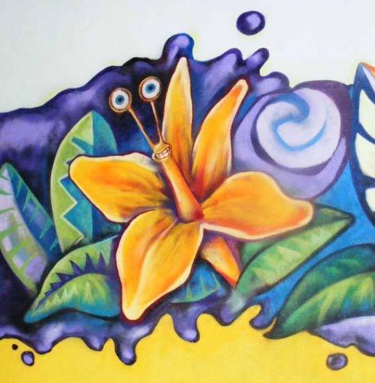 Pintura mural en habitaci n de juegos pau morales albert - Cuadros murales para pared ...
