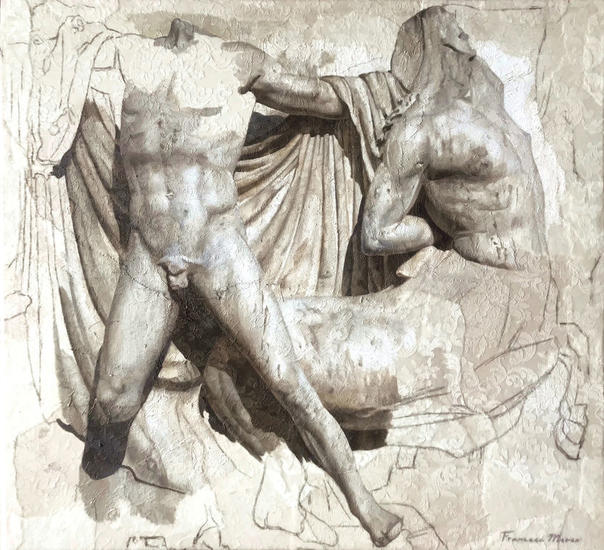ALEGORIA VI Figure Painting Oil Panel