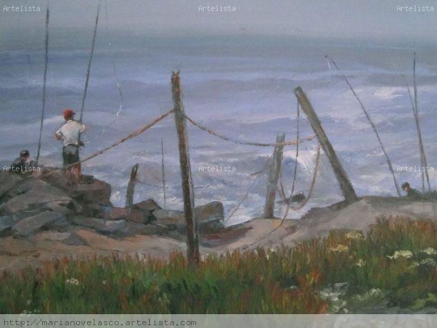 pescadores de caña