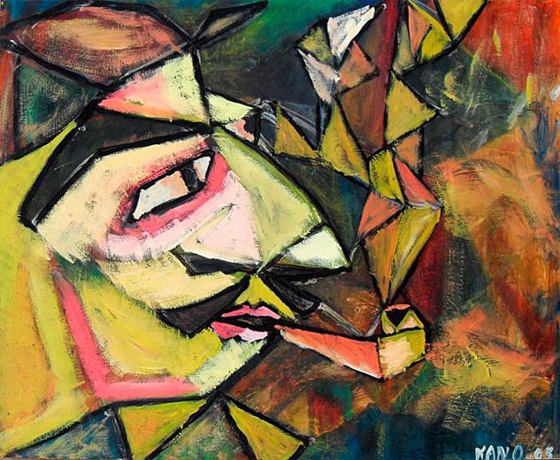 El fumador de pipa Otros Óleo Retrato