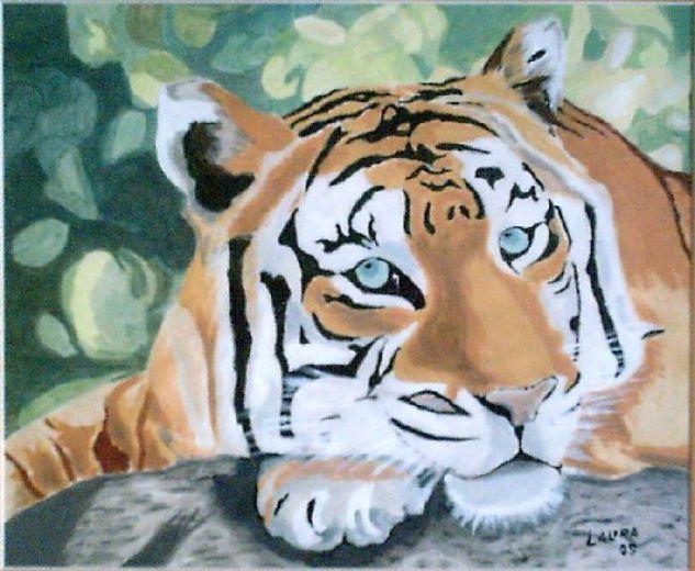 Tigre Gouache Papel Animales