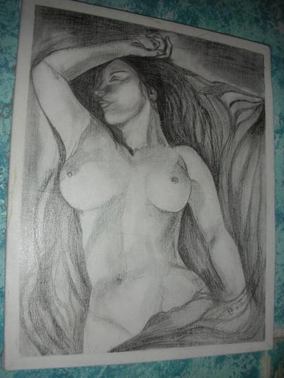 Estaciada Lienzo Lápiz (Negro) Desnudos