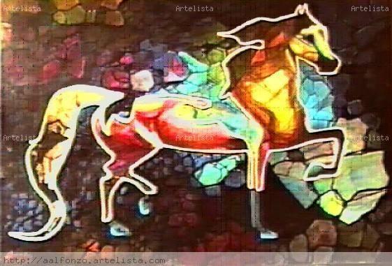 EQUUS (2003) Acrílico Lienzo Animales