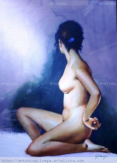 Desnudo Papel Desnudos Acuarela