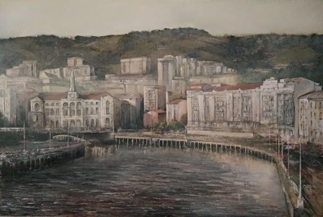 Bilbao Paisaje Óleo Lienzo