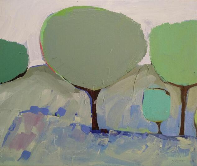 ÁRBOLES DE MAYO / 3 Landscaping Acrylic Canvas