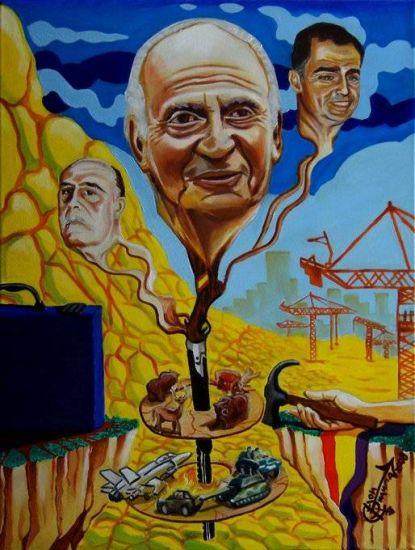 El imparable ascenso de la democracia en el Reino de España Óleo Lienzo Paisaje
