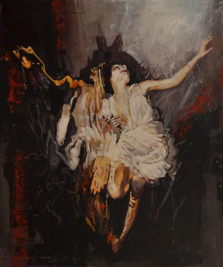 Espejos bajo el agua Figure Painting Oil Canvas