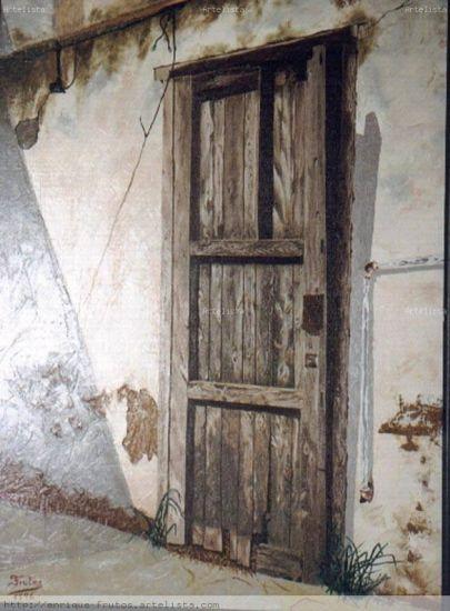 Puerta Lienzo Óleo Paisaje