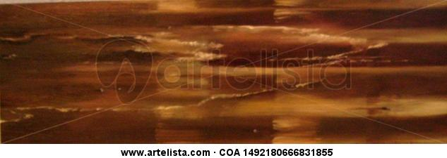 Orilla en ocres Panel Oil Marine Painting