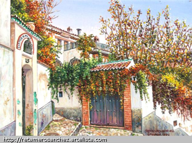 Granada-Albaicin-Carmen Ntra. Sra de las Mercedes Tabla Óleo Paisaje