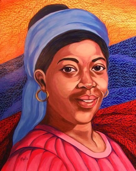 """Juana Ramírez """"La Avanzadora"""" Canvas Acrylic Portrait"""