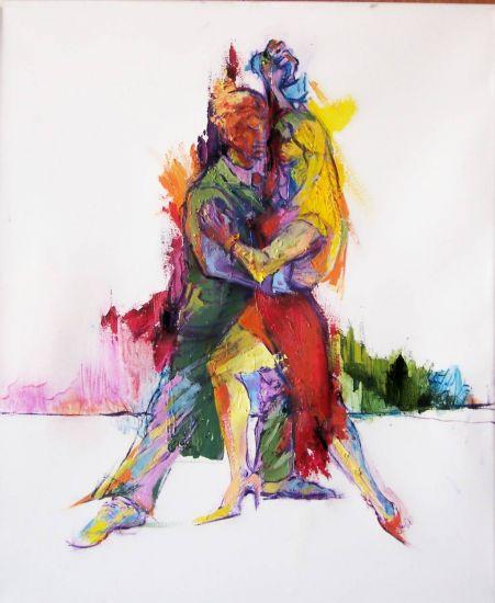 BAILANDO TANGO ARGENTINO - Marta Bass - artelista.com