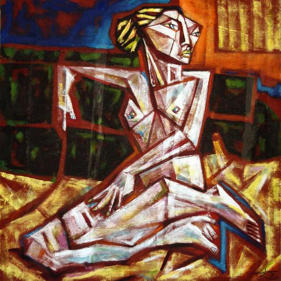 la luxe Figure Painting Oil Canvas