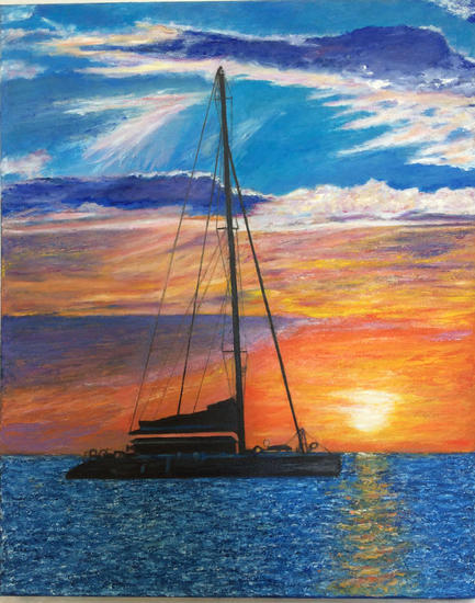 Catamaran Marina Óleo Lienzo