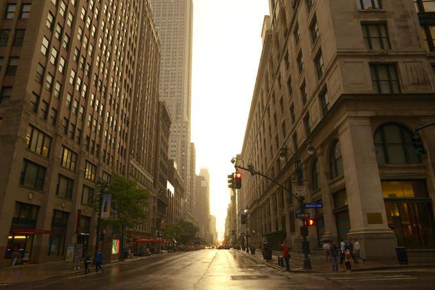 Sunset in Manhattan Color (Digital) Travel