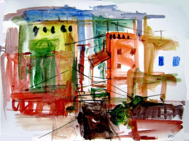 old city-9 Acrílico Papel Otros