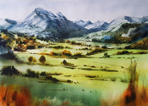 VALLE DE ARDISANA 2 P. LLANES Landscaping Watercolour Paper