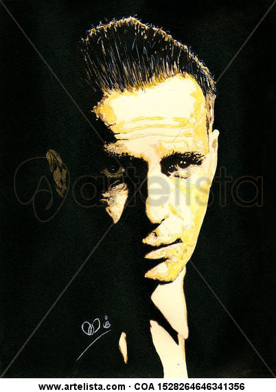 Humphrey DeForest Bogart  Portrait Paper Ink