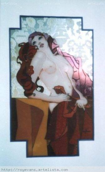 Mujer De vidriera Cristal Desnudos