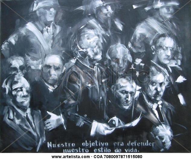 History repeating 2 Retrato Óleo Lienzo
