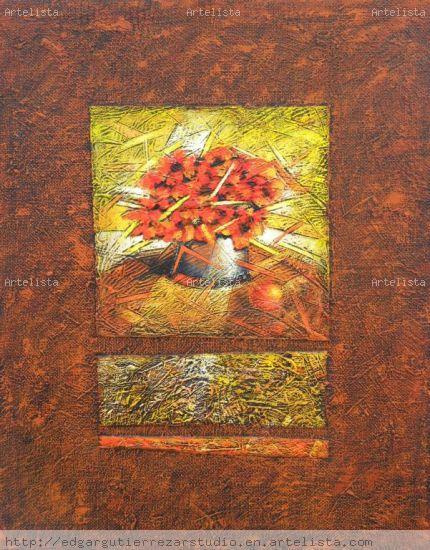 From the Spirit's Garden: Floreson II Lienzo Media Mixta Floral