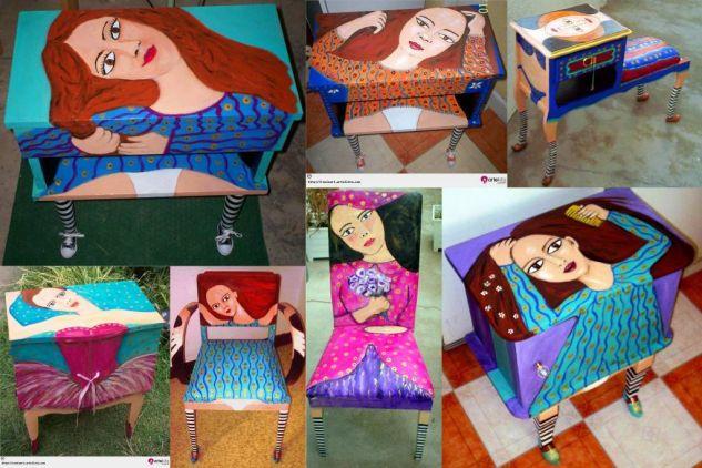 pintura sobre muebles
